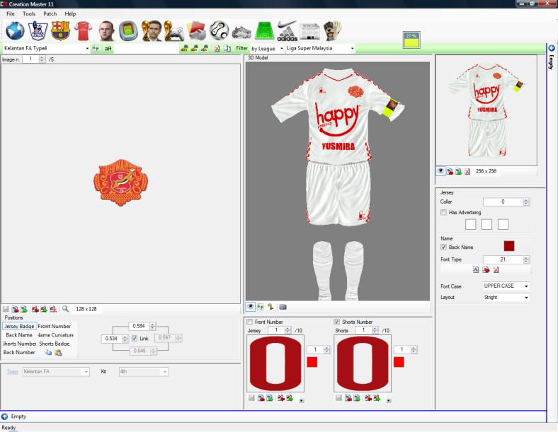 MSL4FIFA12 season 2012 Kits - Kelantan's away kit Warriors brand by angelvsevil